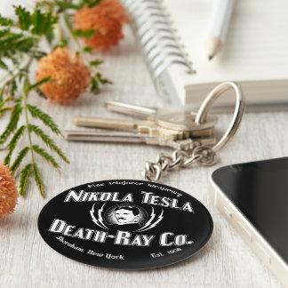 Nikola Tesla Death-Ray Co. Basic Round Button Keychain