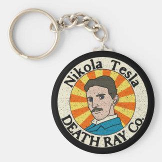 Nikola Tesla Death Ray Co. Keychains