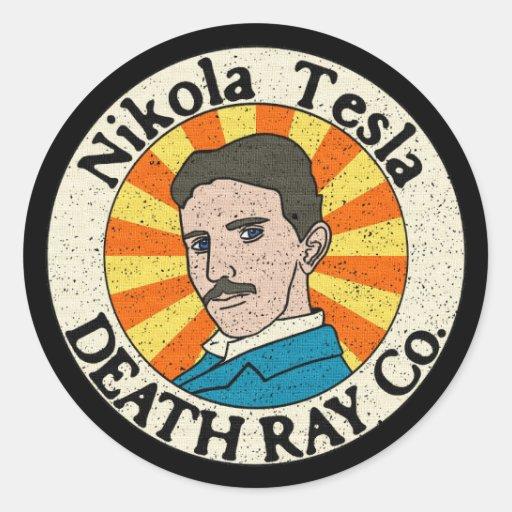 Nikola Tesla Death Ray Co. Stickers