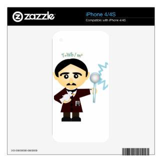 Nikola Tesla Decals For The iPhone 4S