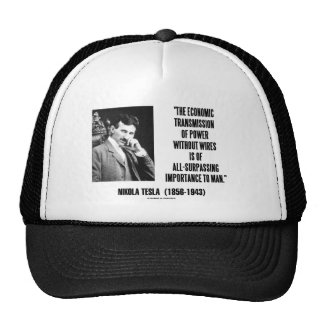 Nikola Tesla Economic Transmission Of Power Trucker Hats