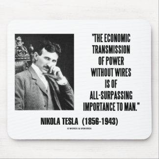 Nikola Tesla Economic Transmission Of Power Mouse Pad