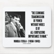 Nikola Tesla Economic Transmission Of Power Mousepads