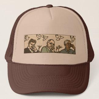 Nikola Tesla - Edgar Cayce - Jiddu Krishnamurti Trucker Hat