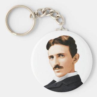 Nikola Tesla Electrical Genius Basic Round Button Keychain