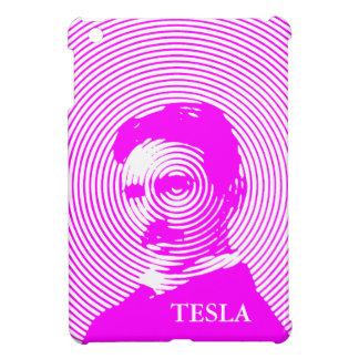 Nikola Tesla en magenta iPad Mini Protectores