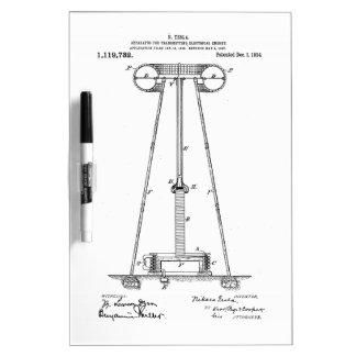 Nikola Tesla Energy Transmission Pantent US1119732 Dry-Erase Whiteboard