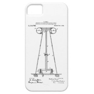 Nikola Tesla Energy Transmission Pantent US1119732 iPhone SE/5/5s Case