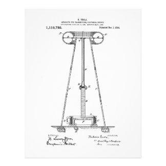 Nikola Tesla Energy Transmission Pantent US1119732 Letterhead