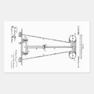 Nikola Tesla Energy Transmission Pantent US1119732 Rectangular Sticker