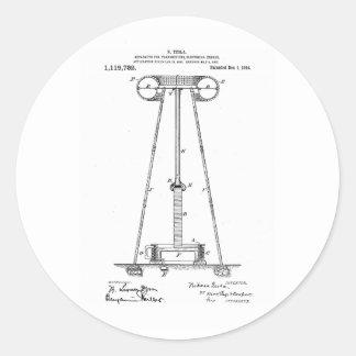 Nikola Tesla Energy Transmission Pantent US1119732 Sticker