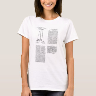 Nikola Tesla Energy Transmission Pantent US1119732 T-Shirt