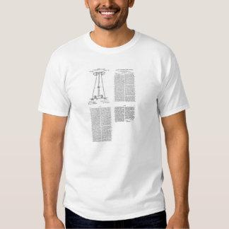 Nikola Tesla Energy Transmission Pantent US1119732 Tee Shirt