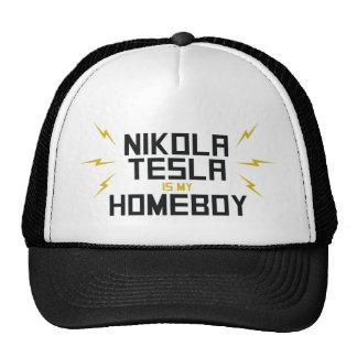 Nikola Tesla es mi Homeboy Gorro De Camionero