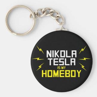 Nikola Tesla es mi Homeboy Llavero Personalizado