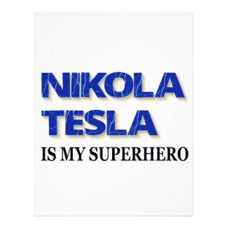 Nikola Tesla es mi super héroe Membrete