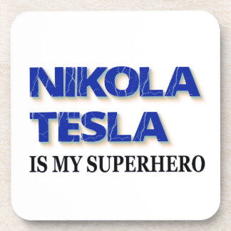 Nikola Tesla es mi super héroe Posavasos De Bebida
