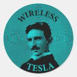 Nikola Tesla Etiqueta Redonda