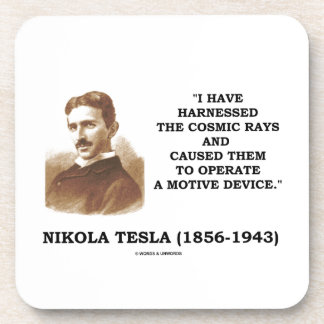 Nikola Tesla Harnessed Cosmic Rays Motive Device Beverage Coaster