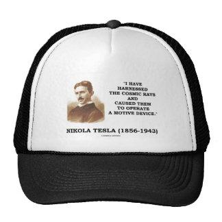 Nikola Tesla Harnessed Cosmic Rays Motive Device Hat
