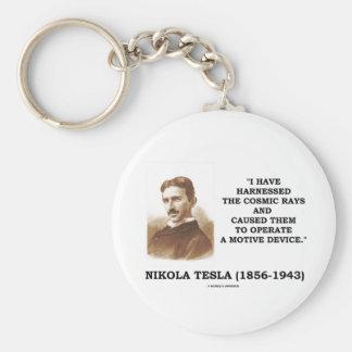 Nikola Tesla Harnessed Cosmic Rays Motive Device Keychain