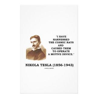 Nikola Tesla Harnessed Cosmic Rays Motive Device Stationery