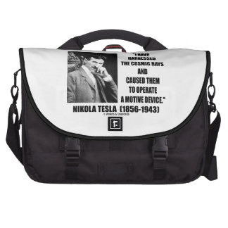 Nikola Tesla Harnessed The Cosmic Rays Device Laptop Commuter Bag