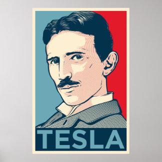 Nikola Tesla Hope Portrait Poster