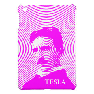 Nikola Tesla in Magenta iPad Mini Cases