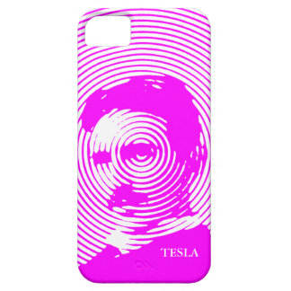 Nikola Tesla in Magenta iPhone 5 Cases