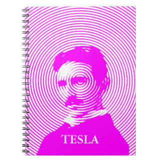 Nikola Tesla in Magenta Notebook