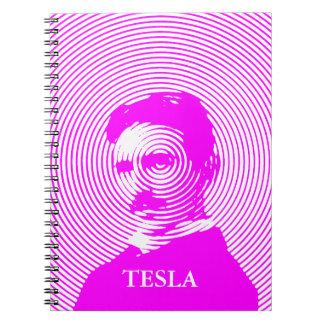 Nikola Tesla in Magenta Spiral Note Book