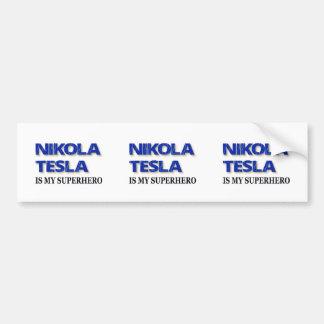 Nikola Tesla Is My Superhero Bumper Sticker