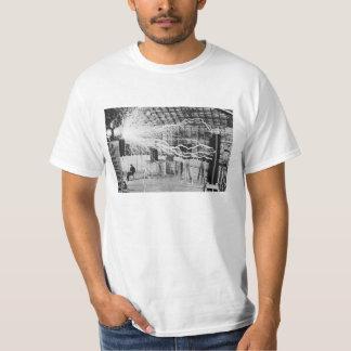 Nikola Tesla Laboratory Electricity Picture T-Shirt