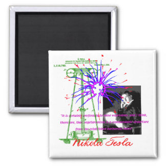 Nikola Tesla Refrigerator Magnet