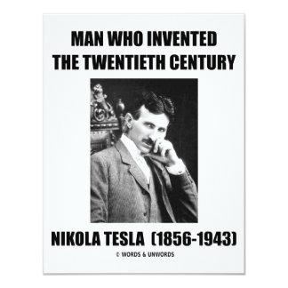 Nikola Tesla Man Who Invented The 20th Century Card