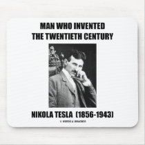 Nikola Tesla Man Who Invented The 20th Century Mouse Pads
