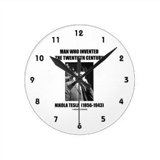 Nikola Tesla Man Who Invented The 20th Century Round Clock
