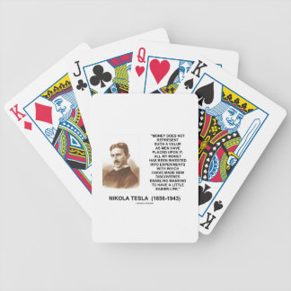 Nikola Tesla Money Invested Experiments Mankind To Bicycle Playing Cards