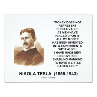 Nikola Tesla Money Value Discoveries Easier Life Card
