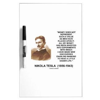 Nikola Tesla Money Value Discoveries Easier Life Dry-Erase Board