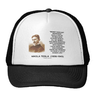 Nikola Tesla Money Value Discoveries Easier Life Hats