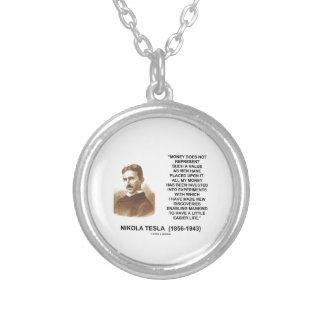 Nikola Tesla Money Value Discoveries Easier Life Silver Plated Necklace