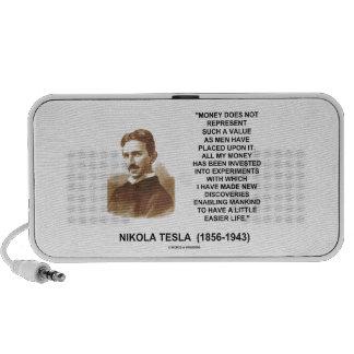 Nikola Tesla Money Value Discoveries Easier Life Notebook Speaker