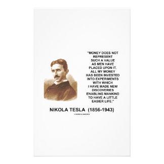 Nikola Tesla Money Value Discoveries Easier Life Stationery