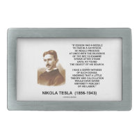 Nikola Tesla Needle In Haystack Theory Calculation Belt Buckles