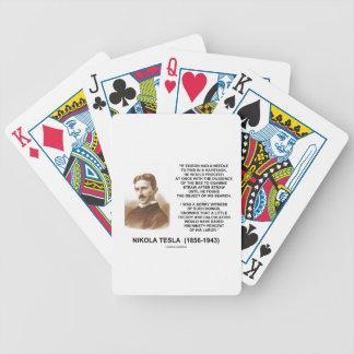 Nikola Tesla Needle In Haystack Theory Calculation Bicycle Playing Cards