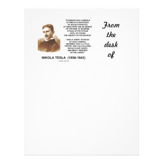 Nikola Tesla Needle In Haystack Theory Calculation Letterhead