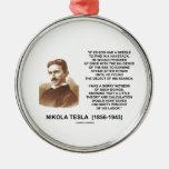 Nikola Tesla Needle In Haystack Theory Calculation Christmas Tree Ornament