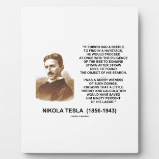 Nikola Tesla Needle In Haystack Theory Calculation Plaque